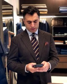 The Papa Bear of Men's Fashion Flannel Suit, Bowler Hat, Classic Wardrobe, Business Outfits, Dog Days, Dapper, Bespoke, Brows, Men Dress