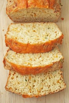 cheesy_beer_quick_bread_6--I am sticking this here despite the beer lol! If it is a dump and stir recipe kids can do it! Just no snitching the dough to try!  #weightloss #health #weight loss
