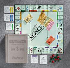 Vintage Bookshelf Monopoly® | Vintage Games | Restoration Hardware