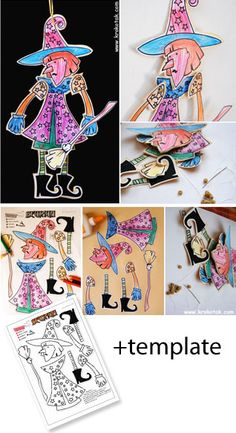 halloween diy kids crafts HALLOWEEN WITCH