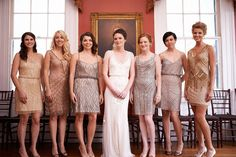 Love the gatsby bridesmaids dresses idea