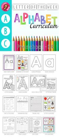 Letter of the Week Preschool Curriculum Page Alphabet Curriculum. No Prep Letter of the Week Preschool and Alphabet Binder. Worksheets, Games, Math and more for 3 or 4 day a week schedule. Preschool Letters, Letter Activities, Preschool At Home, Preschool Lessons, Learning Letters, Preschool Kindergarten, Preschool Learning, Home Preschool Schedule, Letter Games