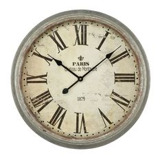 Oversized Round Metal 62cm Wall Clock