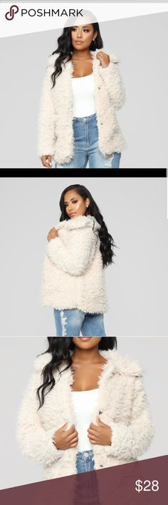 c28dfc12abc8b Fashion Nova - Great Feels Fuzzy Jacket Brand New
