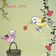 closeup of thankyou card