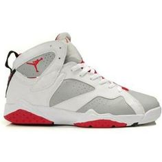 http://www.anike4u.com/ Air Jordan Retro 7 Shoes White Grey Red