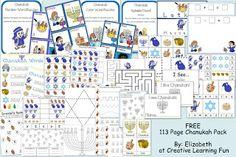 FREE Chanukah Printable Pack   Creative Learning Fun