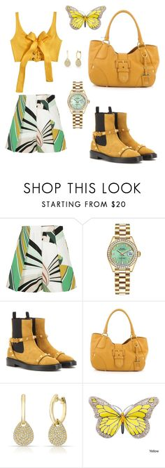 """""""Sight seeing thru time square 🏙"""" by mrsagosto ❤ liked on Polyvore featuring Emilio Pucci, Rolex, Balenciaga, Prada, Anne Sisteron and MARA"""