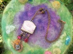 Pink Pottery Necklace Sweet as Sugar by GratefulBeads on Etsy, $35.00