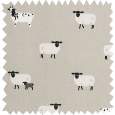 Description Order Sample Our lovely Sheep fabric is 100% cotton and can be bought by the metre. It features Jacob and Suffolk Sheep on a grey background. Perfect for making your own tablecloths, curtains, cushions and blinds or for upholstering chairs and other furniture. Please note: we only sell our fabrics by the me