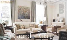 Cream and beige living room