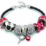 #Chamilia Red #Disney Kaleidoscope Bracelet, new adjustable braided leather bracelet #minnie_mouse