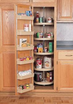 Great in the corner of the pantry.   Rev-A-Shelf 6065 Series 5 Shelf Set 16