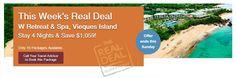 Stay 4 Nights At The W Retreat & Spa, Vieques Island - $1,399 per couple! - https://traveloni.com/vacation-deals/stay-4-nights-w-retreat-spa-vieques-island-1399-per-couple/ #vacation #caribbean #destinationisland #puertorico #ViequesIsland