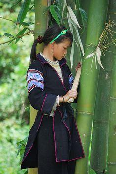 Black h'mong girl in Vietnam