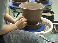 See Amanda throw a one piece planter! - YouTube