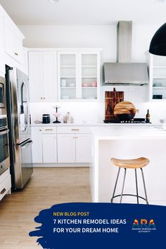 The kitchen is the heart of your home. Make it feel and look like it. If youve never hired remodeling contractors in Arizona before, it can be confusing or even stressful knowing where to start. To help out, weve gathered 7 kitchen remodeling ideas to give you inspiration for your place of gathering. Find them in our latest blog post. #kitchenremodeling #kitchenremodelingideas #kitchenrenovation #kitchendesigns #remodelingcontractors #arizonahomes #phoenixhomes