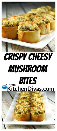 I cannot stop eating these Crispy Cheesy Mushroom Bites and neither can my family! They disappear so fast! If you like mushrooms this recipe must be on your bucket list! I am not kidding! These little bites have the right amount of cheese and mushroom Mushroom Appetizers, Mushroom Recipes, Empanadas, Tapas, Great Recipes, Favorite Recipes, Fast Recipes, Popular Recipes, Recipe Ideas