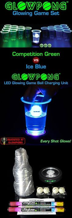 Tables 97075: Beer Pong Set Glowpong Game With Lights And No Table BUY IT NOW ONLY: $70.95