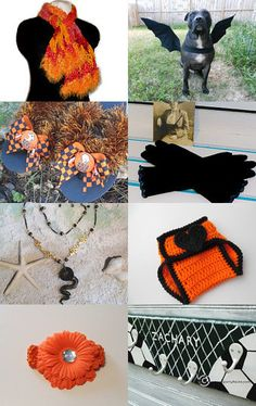 Orange and Black Fun by Sherri Drago on Etsy--Pinned with TreasuryPin.com