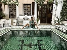 ≫∙∙ The beautiful Riad Yasmine in Marrakech with aboutboho in Mara Hoffman ∙∙≪