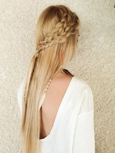 Hair, hair ideas, hair inspiration, tutorial, how to, braids, summer 2014, hair styling, blonde hair, long hair, hairblog, Dutch braid, boho hair, boho style, hair feathers