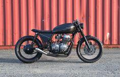 """1972 Honda CB 750K """"Darth Vader"""" - Honda Cafe Racer"""