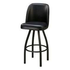 Regal Swivel Bar Stool Upholstery: Black Wood, Finish: Bronze, Seat Height: 30""