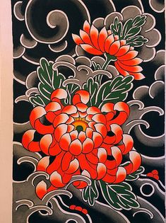 Garden Flowers Dm Or Email For Appointments Or Commissions Japanese Snake Tattoo, Japanese Flower Tattoo, Japanese Tattoo Designs, Japanese Sleeve Tattoos, Japanese Flowers, Traditional Tattoo Flowers, Traditional Japanese Tattoos, Crisantemo Tattoo, Samourai Tattoo