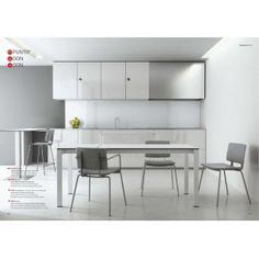 Mesas y sillas cocina  MESA PUNTO 60X80   mesa extensible en cristal