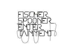 "Custom typography for Fischerspooner ""Entertainment"" album by Mjölk"