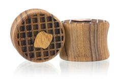 Waffles Wood Plugs Gauges from Omerica Organic. Use Rep Code SWEETLE at checkout for 20% off your first purchase!