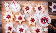 Christmas Linzer Cookies Raspberry Jam On Stock Photo (Edit Now) 535950967 Linzer Cookies, Jam On, Christmas Cookies, Waffles, Raspberry, December, Breakfast, Food, Advent