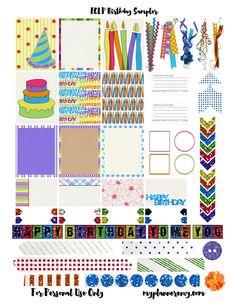 Free Printable Birthday Sampler for the Erin Condren Life Planner