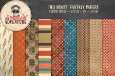 Hij Komt! Fantasy Papers by On A Whimsical Adventure on Creative Market
