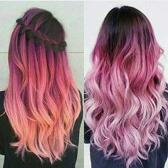 """{ Who also love """"Deep reds and rose"""" combo? { Who also love """"Deep reds and rose"""" combo?😍 { Who also love """"Deep reds and rose"""" combo? Cute Hair Colors, Pretty Hair Color, Beautiful Hair Color, Hair Color Dark, Hair Dye Colors, Ombre Hair Color, Hair Colour, Dark Hair, Bright Hair"""