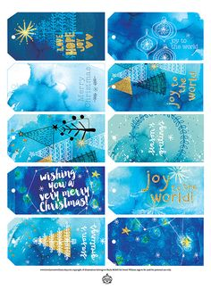 Giving gifts can be as fun as receiving them! Here are some beautiful art tags to make your Christmas gifts look extra special. These tags are
