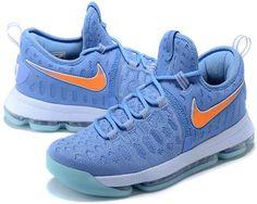 6b688bb6a4b0 Nike Zoom KD 9 Lmtd EP Mens Basketball shoes Sky blue orange2 Nike  Huarache