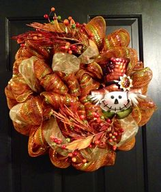 Thanksgiving wreath by TazCreations on Etsy