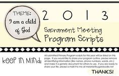 Sacrament Meeting Program Ideas