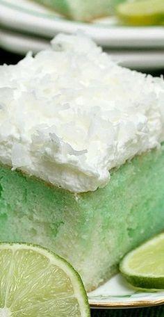 Lime and Coconut Poke Cake - Freshly Photographed