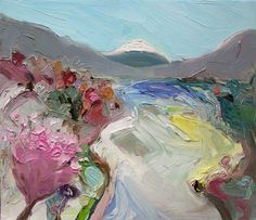 Richard Claremont #Art in #Japan - Ashi Lake, #Hakone, Japan - #Oil Paintings for Sale