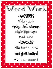 Daily five word work