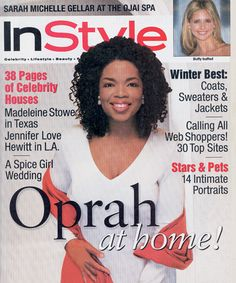 InStyle Magazine Covers: 1998 - November, Oprah Winfrey from #InStyle