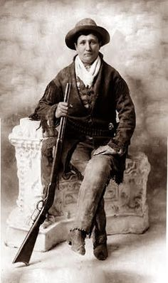 Calamity Jane was a colorful figure from the Old West. She was friends with Wild Bill Hickock, and in later years was a member of Buffalo Bill's Wild West Show. Calamity Jane died  August 1, in the year 1903. She was buried next to Wild Bill.