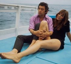 Boat trip for Serge Gainsbourg and Jane Birkin during the edition of the Cannes Film Festival in May 1969