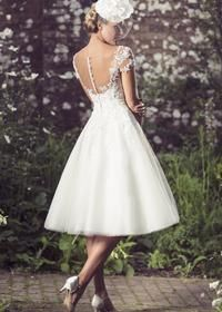 Tea Length Bridal and 50's Style Short Wedding Dresses | Brighton Belle | Demi | True Bride