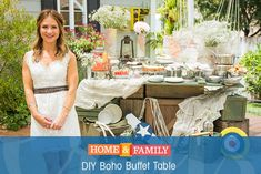 Wedding bells call for some serious DIYing! @fromscratchMP creates an aviation-inspired boho buffet table using things your can find around your house. Catch Home and Family weekdays at 10/9c on Hallmark Channel!