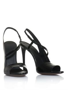 Balenciaga Neo Manhattan slingback sandal in black $666