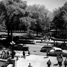 View of campus from the steps of the Michigan Union in 1947! Do you notice any changes?